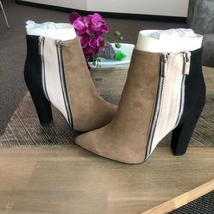JUSTFAB Remi Colorblock Booties - NWOT